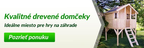 Detské drevené záhradné domčeky | Preliezkovo.sk